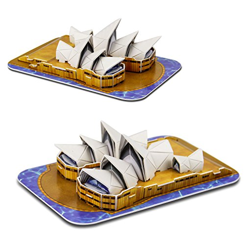 Sydney Opera House World Great Architecture 3D Puzzles DIY Toys for Children and Adult Jigsaw Puzzle