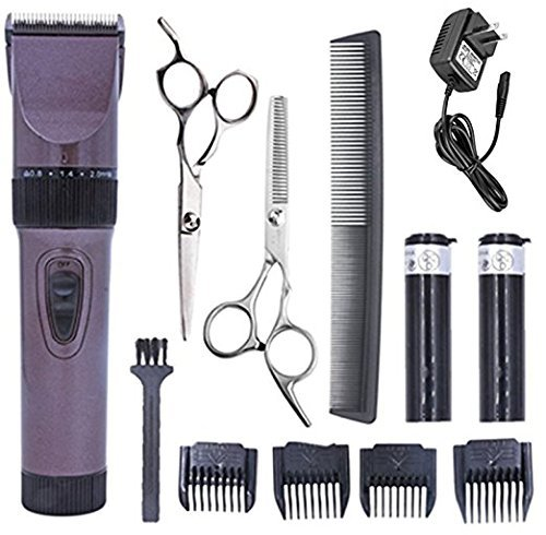 Home Pet Trimmer Kit (Maxshop Hair Clippers,Cordless Quiet Baby Grooming Clippers and Hair Trimmer Kit for Men with 2 Rechargeable Batteries and 4 Combs Attachment Trimmer)