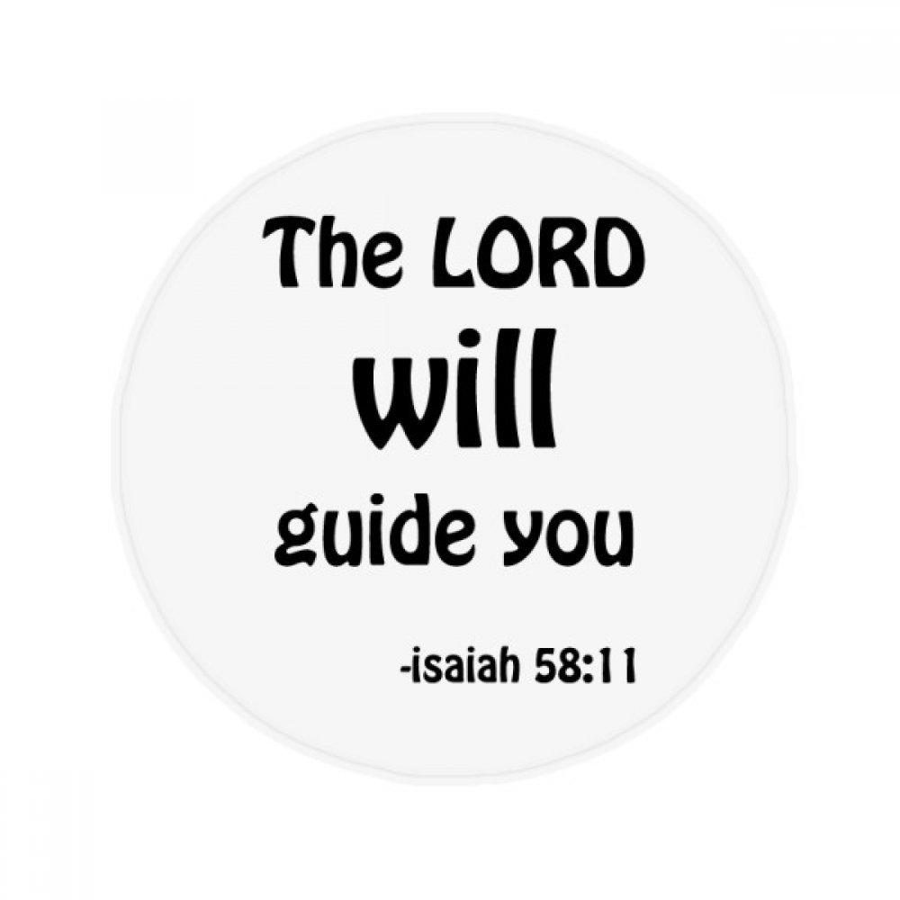 The LORD Will Guide You Christian Anti-slip Floor Pet Mat Round Bathroom Living Room Kitchen Door 80cm Gift by DIYthinker