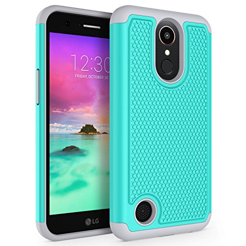 LG K20 V Case, LG K20 Plus Case, LG Harmony Case, LG V5 Case, LG K10 2017 Case, SYONER [Shockproof] Defender Phone Case Cover [Turquoise]