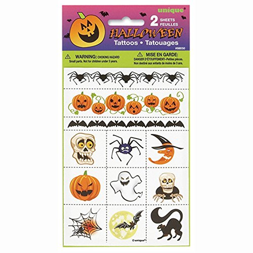 Halloween Temporary Tattoos, 24ct