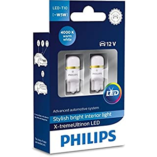 Philips Xtreme Vision 360 X-tremeUltinon LED W5W T10 194 168 (4000K) (Pack of 2)