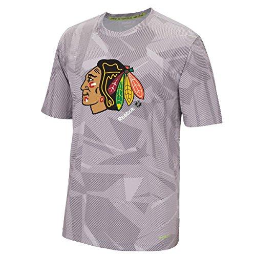 "Chicago Blackhawks Reebok NHL 2015 Center Ice ""TNT"" S/S Performance Shirt"