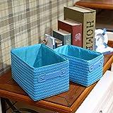 Storage Basket Desktop Uncovered Storage Box Debris Storage Basket (Color : Blue)