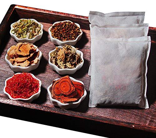 Natural Herb Foot Soak, Chinese Herb Foot Bath Botanicals for Foot Spa Relax Massage 10bags 六合一纯中药材沐足 驱寒湿促循环 暖身助眠 300g 花椒/鸡血藤/益母草/藏红花/老姜/艾草