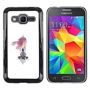 TaiTech / Prima Delgada SLIM Casa Carcasa Funda Case Bandera Cover Armor Shell PC / Aliminium - Yoga Maestro - Samsung Galaxy Core Prime
