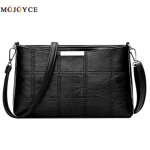 f6ca4a7f5472 Amazon.com: Women Plaid Messenger Bags Sac a Main PU Leather ...