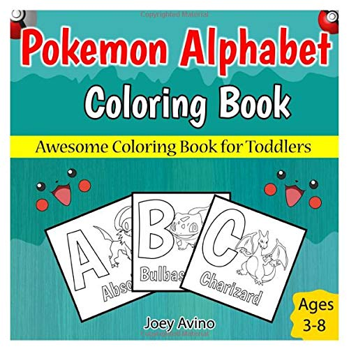 Pokemon Alphabet Coloring Book  Awesome Coloring Book For Toddlers
