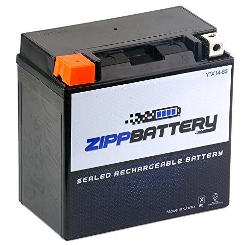 Zipp Battery YTX14-BS Replacement Battery- Rechargeable AGM Powersport Battery- Factory Activated- Replaces CTX14, GTX14-BS, - 955i Daytona Triumph 1999