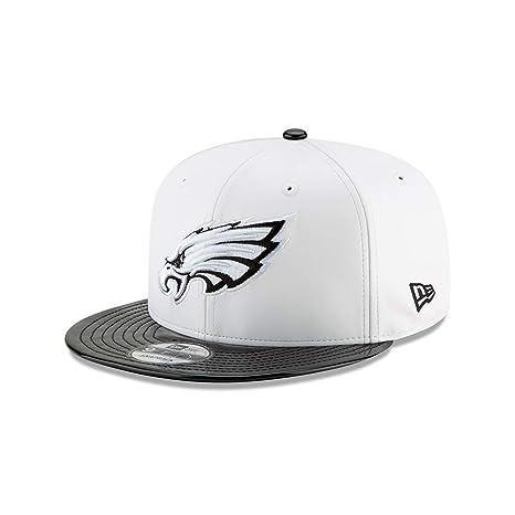 NFL Retro Hook Black White Adjustable Snapback Hat (Multiple Teams)  (Philadelphia Eagles c05c9719923