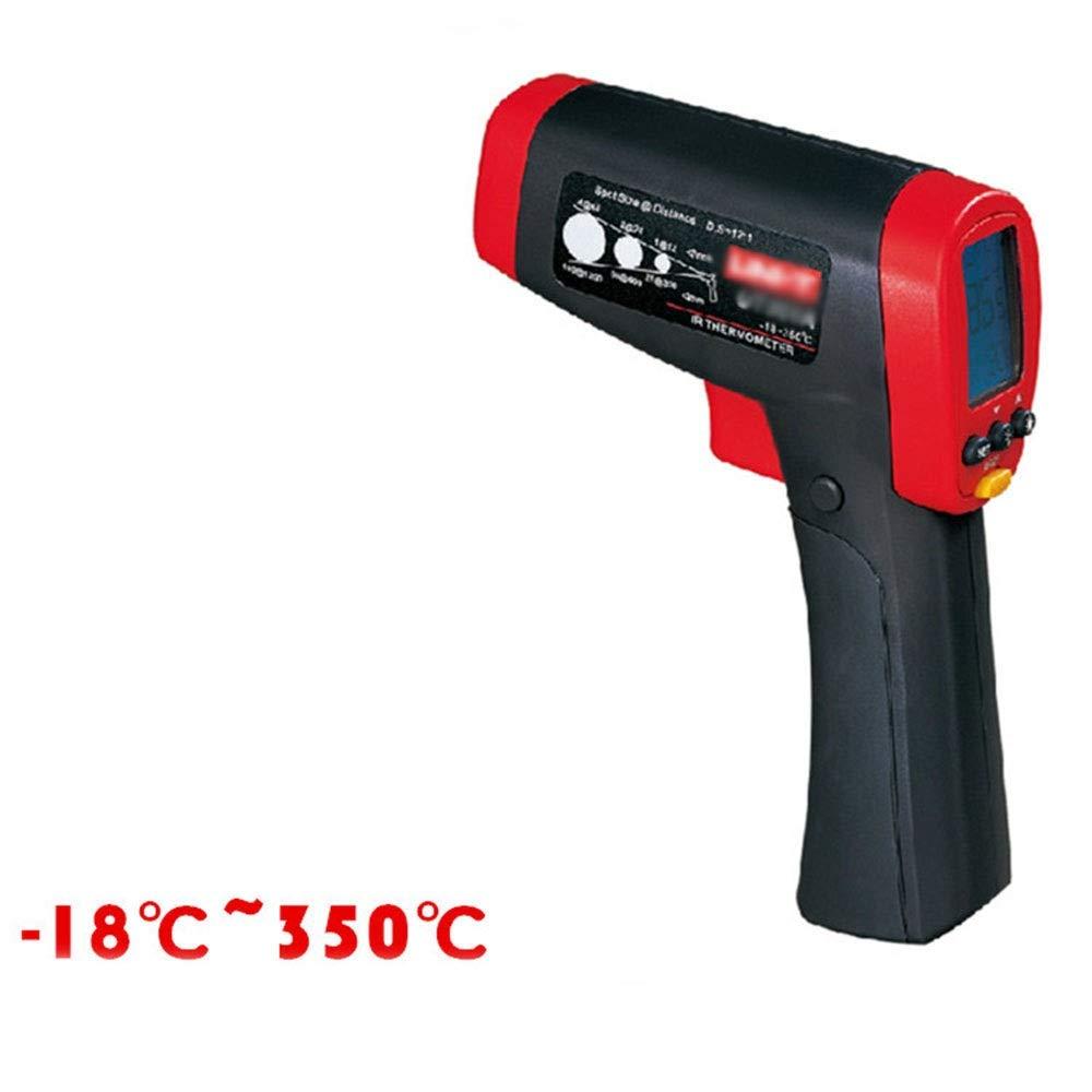 ALLCIAA Repeatability: ±0.5°C Or 0.5% Infrared Thermometer -18 ° C ~ 350 ° C Adjustable Emissivity Temperature Gun USB Powered Adjustable Thermometer (Color : As picture)