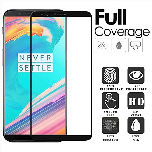 Price comparison product image [3-Pack] -Tempered For Oneplus 5T Glass oneplus 5t Tempered Glass Film 1+5T Full Cover Screen Protector Glass for OP 5T 2.5D 9H Film Glass 6.01 inch