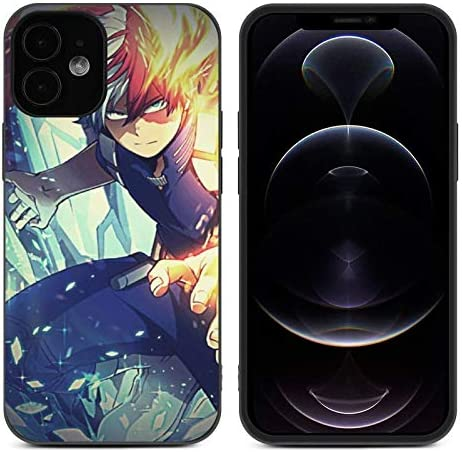 Compatible with iPhone 12 Pro Case My Hero Academia Japanese Anime Shockproof Bumper Cover Protective Case Case for iPhone 12