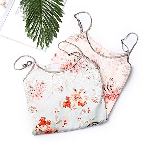 Domicilio Servizio Simulazione Abito Sexy Femminile J8920129pink Da Imbracatura Seta Di Vestito Di Lungo Sonno Stampa Jinsheng Estate A xRnwq67