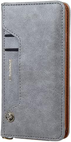 Phone Case with Card Slot Leather Wallet Case for iPhone 6/7 Samsung Galaxy S6/7/8
