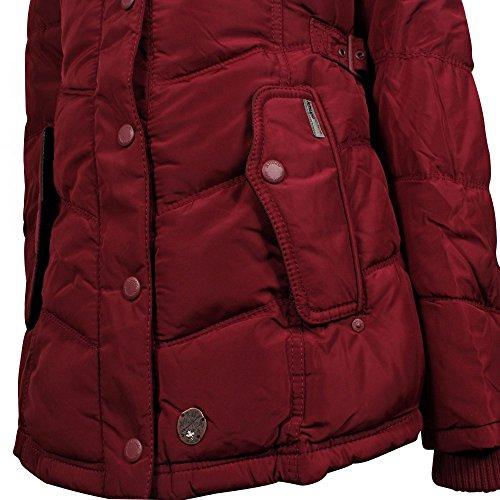 Khujo Winsen giacca invernale bordeaux
