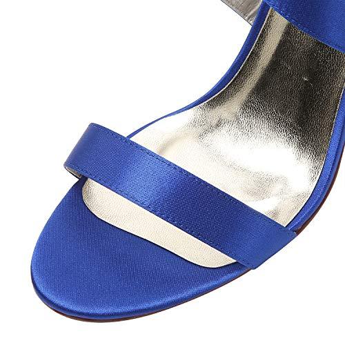 Fibbia Blu In Ballo A Raso Open Con Elegantepark Sandali Hp1818 Tacchi Alti Cinturino Toe Festa Incrociato Nozze Di Spillo Donna Scarpe Da O1q7Twqf