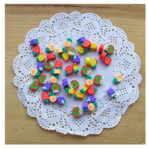 100pcs New Novelty Students Children Lovely Colorful Fruit Pencil Rubber Eraser kids Gifts Wholesale and Retail by PPL21 (Image #7)