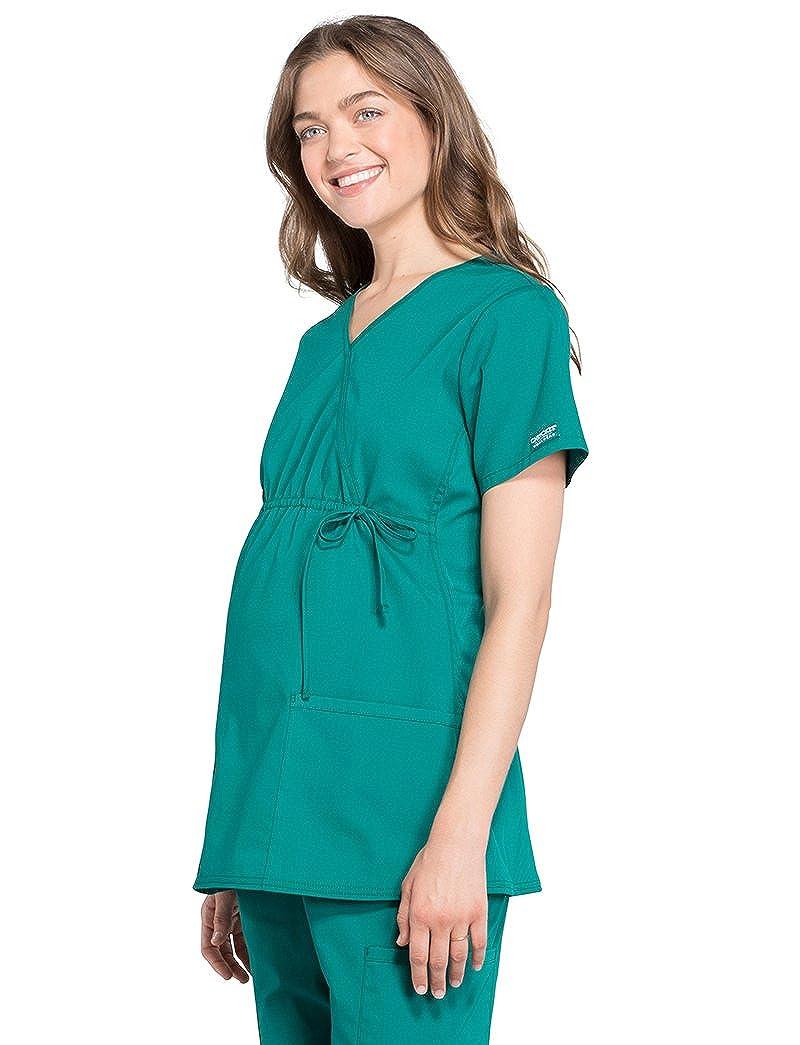 a03c0d55f0ab9 Cherokee Workwear Professionals WW685 Women's Maternity Mock Wrap Solid Scrub  Top Strategic Partners