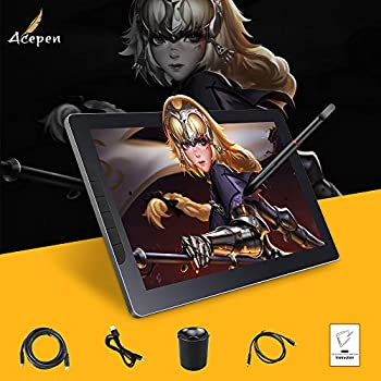 Image of Acepen AP1303 Pro drawing tablet with screen with graphic tablet Graphic Monitor IPS 8192 Level Pen Pressure Drawing Pen Tablet with Colour gamut 88% sRGB 8 Express Keys and Adjustable Stand 13.3 Inch Graphics Tablets
