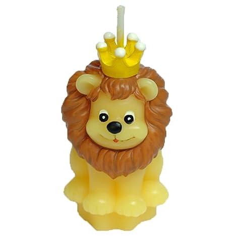 Amazon.com: Creaon - Juego de velas con forma de león sin ...
