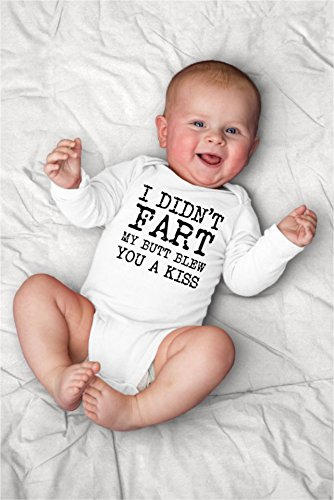 Funny I Didn't Fart, My Butt Blew You A Kiss Baby Bodysuit for Smell Like Daddy Dirty Diaper Filler
