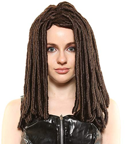 Michonne Walking Dead Character Style Premium Costume/Cosplay Wig Brown -