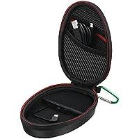 Vproof Bluetooth Headphones Charging Case, Vproof Portable Rechargeable Wireless In-Ear Headphones Protective Battery Power Case Travel Bag for Earbud, Earpiece, Earphones, 1200 mAh, Black