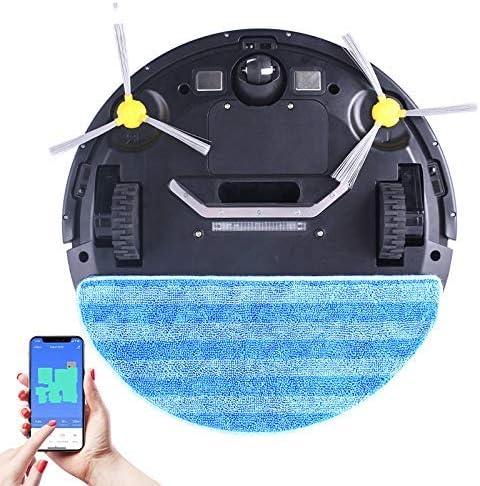 Aspirateur robot W - Application Wifi - Affichage de la carte - Aspiration de 3000 Pa - Mémoire intelligente - Balai à sec humide pour poils d\'animaux et tapis de sol RVTYR