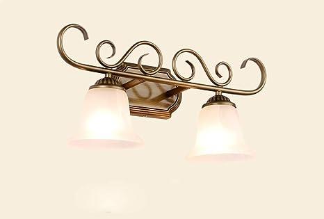 Jqd fanale a specchio lampada da tavolo in ferro stile europeo