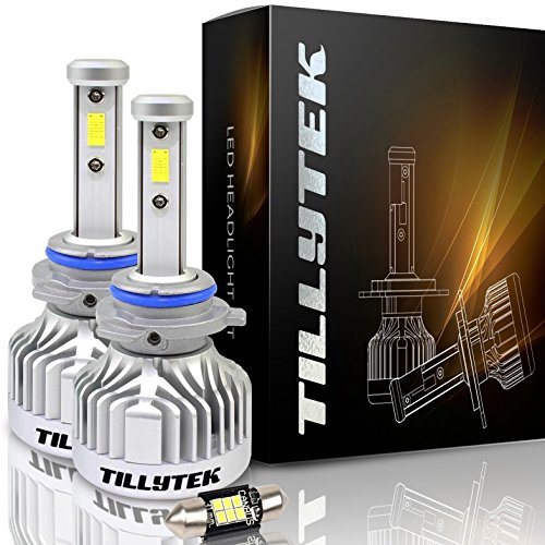 TILLYTEK LED Headlight Bulb Kit Conversion 6000K Cool White 8000LM Upgrade Automotive Car Lighting from Stock Halogen HID (9006 (HB4), Standard Kit)