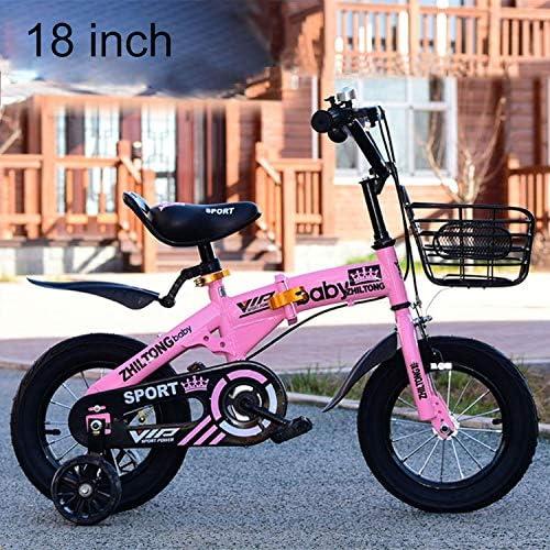 MEI1JIA フロントバスケット&ベル、推奨高さと ZHITONG 8366 12インチファッションバージョン子ども高炭素鋼フレームバランス車のペダル自転車:90〜105センチメートル(ピンク) (色 : Green)