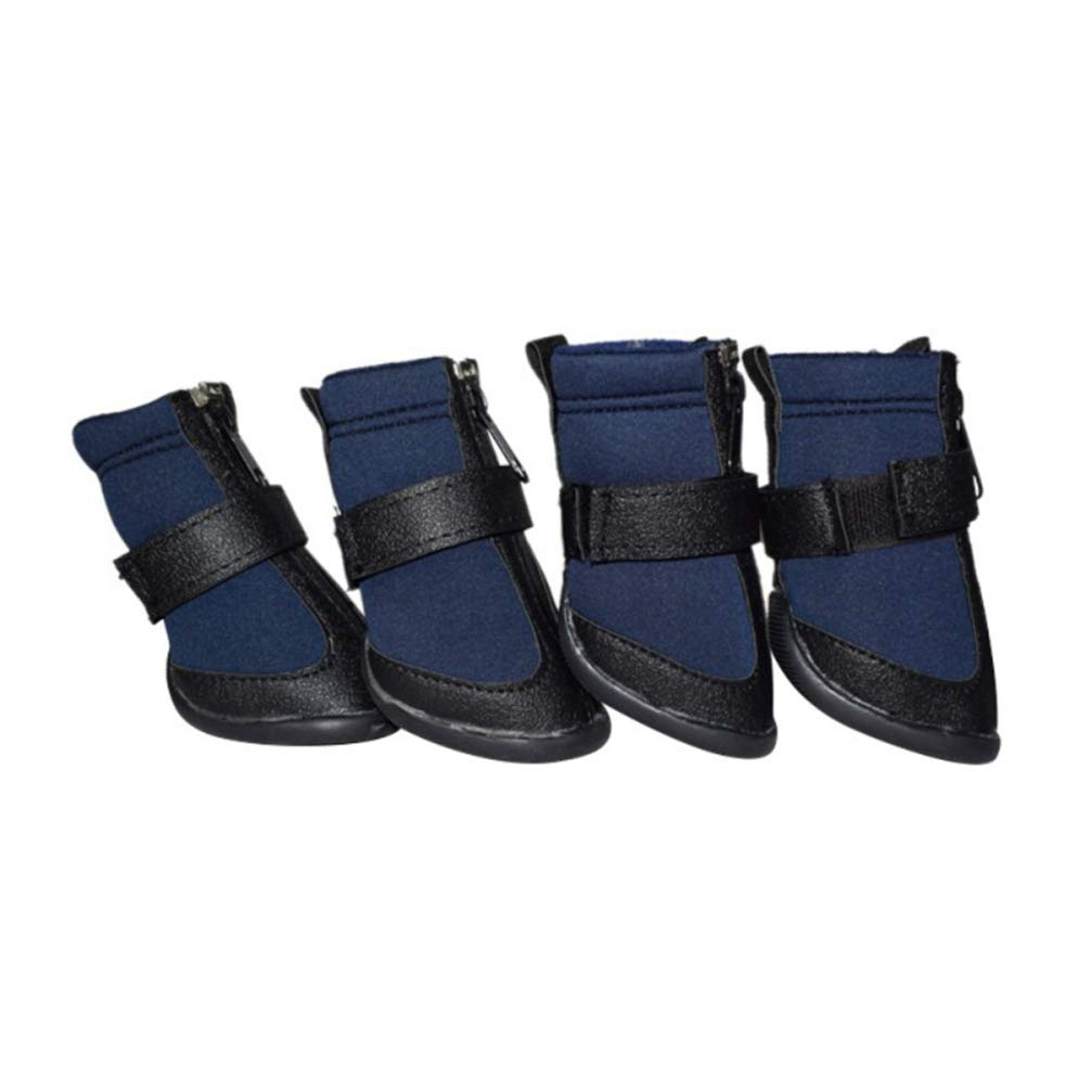 bluee S bluee S Hoxekle 4pcs Sport Dog shoes for Large Dogs Pet Outdoor Rain Boots Non Slip Puppy Running Sneakers Waterpoof Boots Pet Accessories