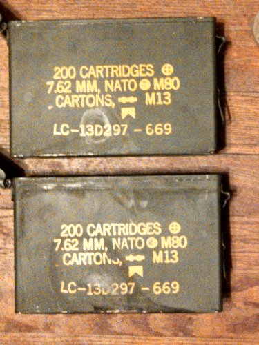 2 Pack of 30 Cal Ammo Cans