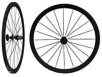 Carbono Llantas 38 mm Tubular para bicicleta de carretera mate Rueda RIM: Amazon.es: Deportes y aire libre