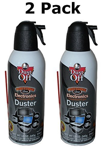- Falcon Dust-Off Professional Electronics Compressed Air Duster, 12 Oz (2 Pack)