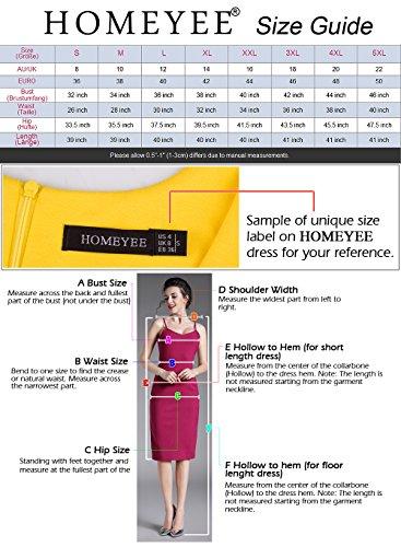 HOMEYEE - Vestido - Corte Imperio Floral Cutaway Sin mangas - para mujer B288 Rosa claro + Negro