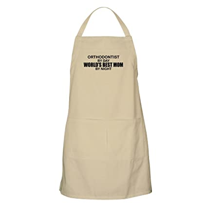 4954fd9c4 Amazon.com: CafePress World's Best Mom - Orthodontist Apron Kitchen Apron  with Pockets, Grilling Apron, Baking Apron: Home & Kitchen