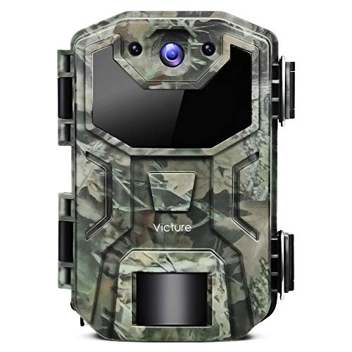 Victure Trail Game Camera 16MP 1080P IP66 Upgrade Waterproof Design No Glow Hunting Scouting Cam with Night Vision Motion Activated for Wildlife Monitoring and Home Surveillance