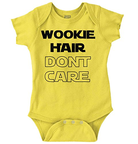 Brisco Brands Wookie Hair Don't Care Cute Nerdy Geeky Romper Bodysuit ()