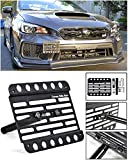 front tow hook wrx - Extreme Online Store for 2018-Present Subaru WRX & STi   EOS Plate Version 1 Mid Sized Front Bumper Tow Hook License Plate Relocator Mount Bracket