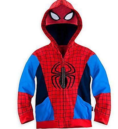 Boys' Superheros Cartoon Characters Mask Costume Hoodie(Spiderman, 4T)