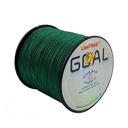 LineThink GOAL Japan Multifilament 100% PE Braided Fishing Line 500M (Green, 15LB/0.14mm)