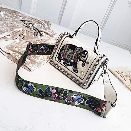 quadrata borsa spalla selvatica WSLMHH bianco ampia moda Messenger spalla personalità Borsa femminile coreana blu piccola bag Sqxw8Epx