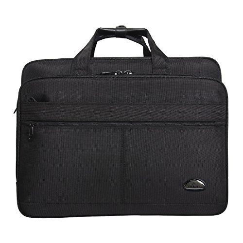 17-18-18.5 inch Laptop Bag,Water Resisatant Business Laptop Briefcase,Expandable High Capacity Shoulder Bag,Nylon Multi-Functional Shoulder Messenger Bag for Men Fits 17 inch Loptop ,Computer,Tablet by NULL (Image #1)