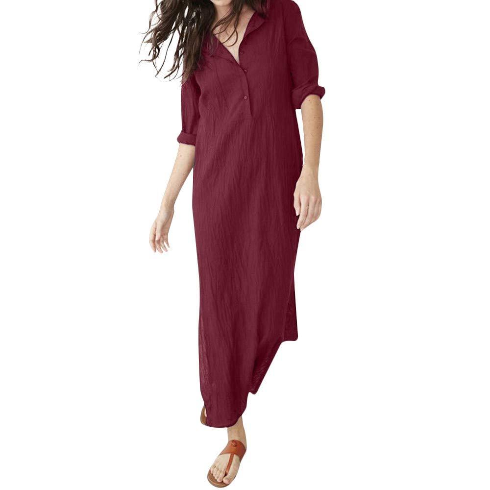 7c9edef3a4d Amazon.com  DEATU Womens Casual Long Dress