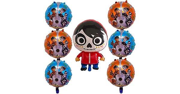 Amazon.com: 7 globos de papel de aluminio Coco Miguel para ...