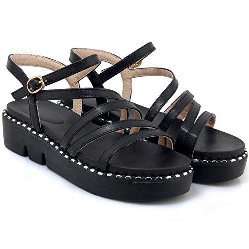 Coolcept Sandales Plateforme Plate Black Mode Femmes OfO5SxPn
