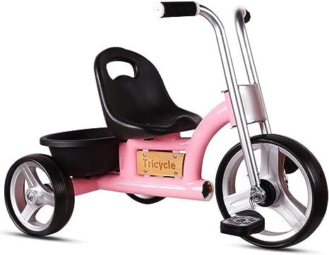 Hejok Equilibrio De La Bicicleta Roja, 1-3-2-6 Años De Edad Cochecito De Bebé Bicicleta De Bebé Niños Pequeños Exterior Cochecito De Bebé Triciclo De Niños, Pink: Amazon.es: Deportes y aire libre