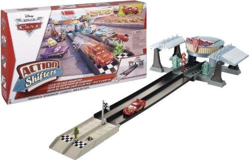 (Disney Pixar Cars Action Shifters Flo's V8 Café Dragstrip Playset)